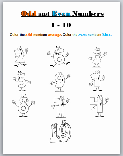 Odd and even Numbers Worksheet New Learning Ideas Grades K 8 Odd and even Numbers Coloring