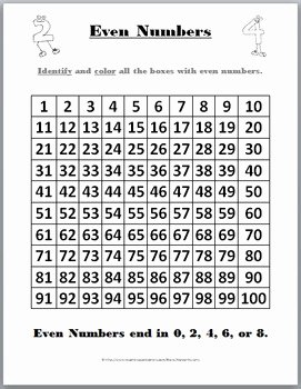 Odds and even Worksheet Awesome Odd and even Number Charts and Student Worksheets by