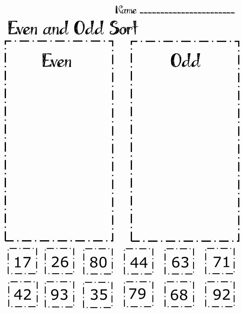 Odds and even Worksheet Fresh Printable Odd even Worksheets