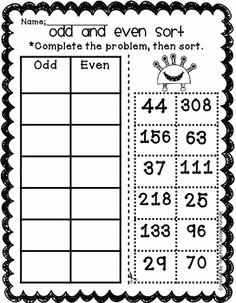 Odds and even Worksheet New 1000 Images About even and Odd On Pinterest
