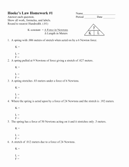 Ohm's Law Worksheet Answers New Work & Power Worksheet