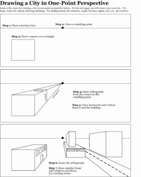 One Point Perspective Worksheet Awesome C I C S Bucktown Art Perspective How to Worksheets