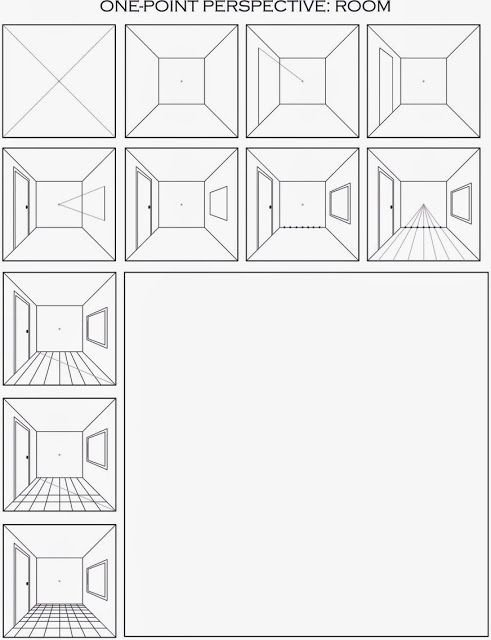 One Point Perspective Worksheet Awesome the Helpful Art Teacher Draw A Surrealistic Room In E