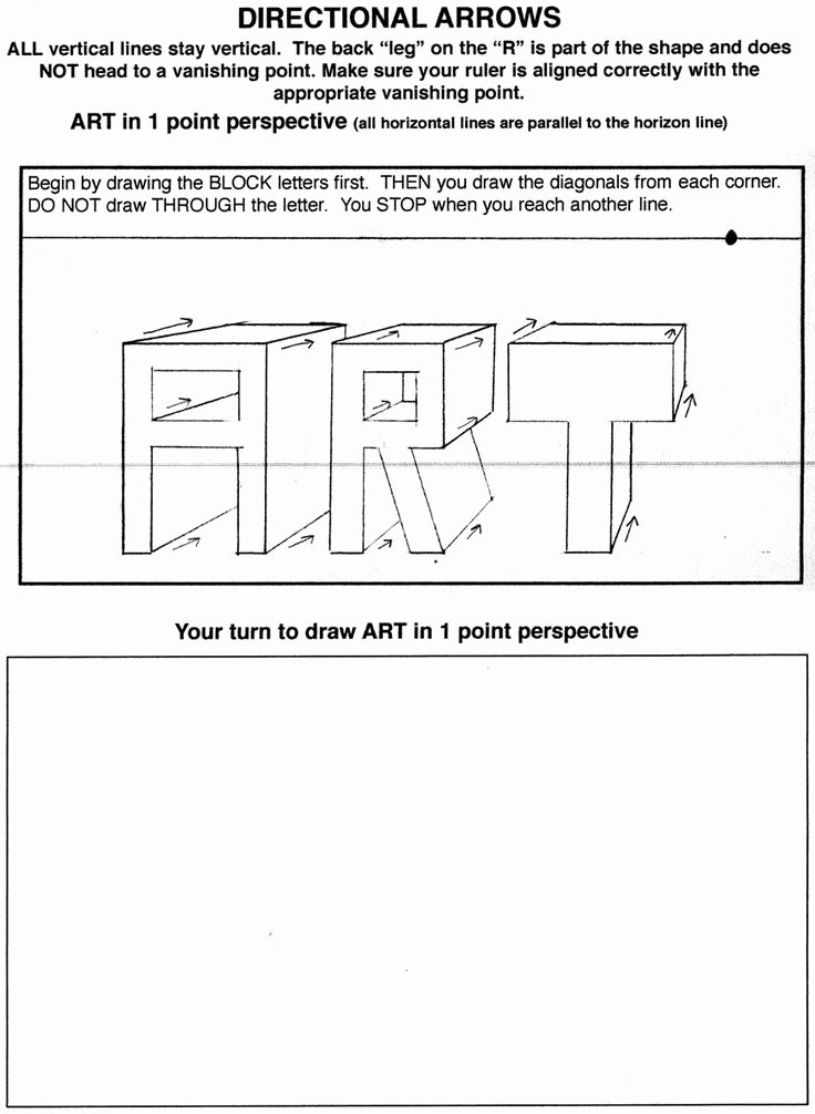 One Point Perspective Worksheet Beautiful Great Resource for Teaching One Point Perspective