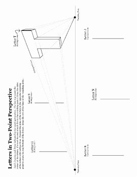 One Point Perspective Worksheet Best Of E Point and Two Point Perspective Worksheet Packet by