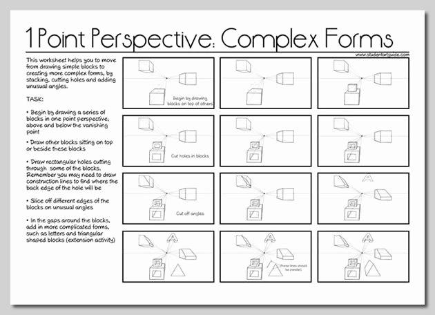 One Point Perspective Worksheet Elegant E Point Perspective Drawing the Ultimate Guide