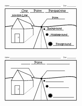 One Point Perspective Worksheet Elegant E Point Perspective Worksheet Answer Key by Artist