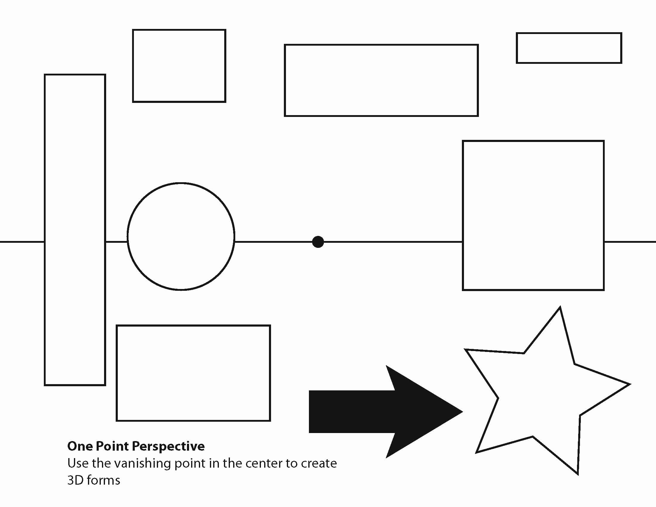 One Point Perspective Worksheet Elegant One=point Perspective Worksheets