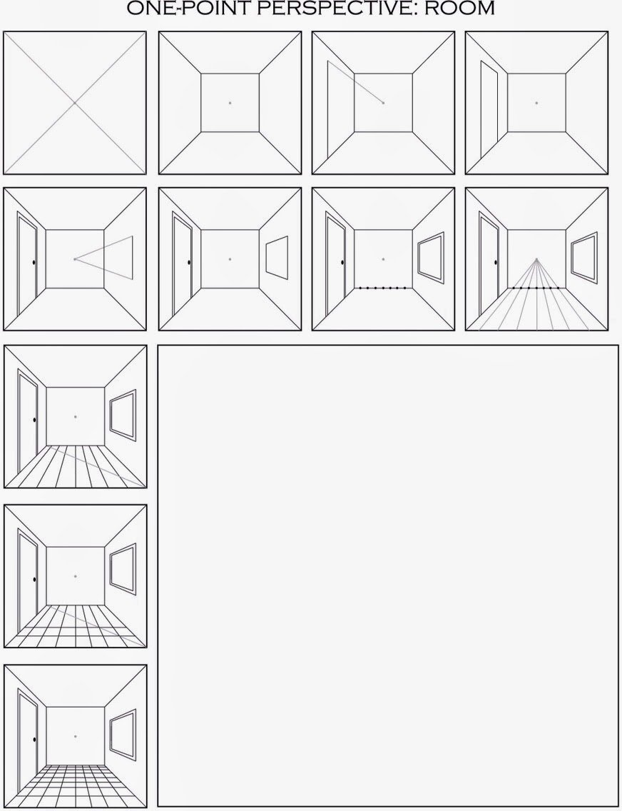 One Point Perspective Worksheet Elegant the Helpful Art Teacher Draw A Surrealistic Room In E