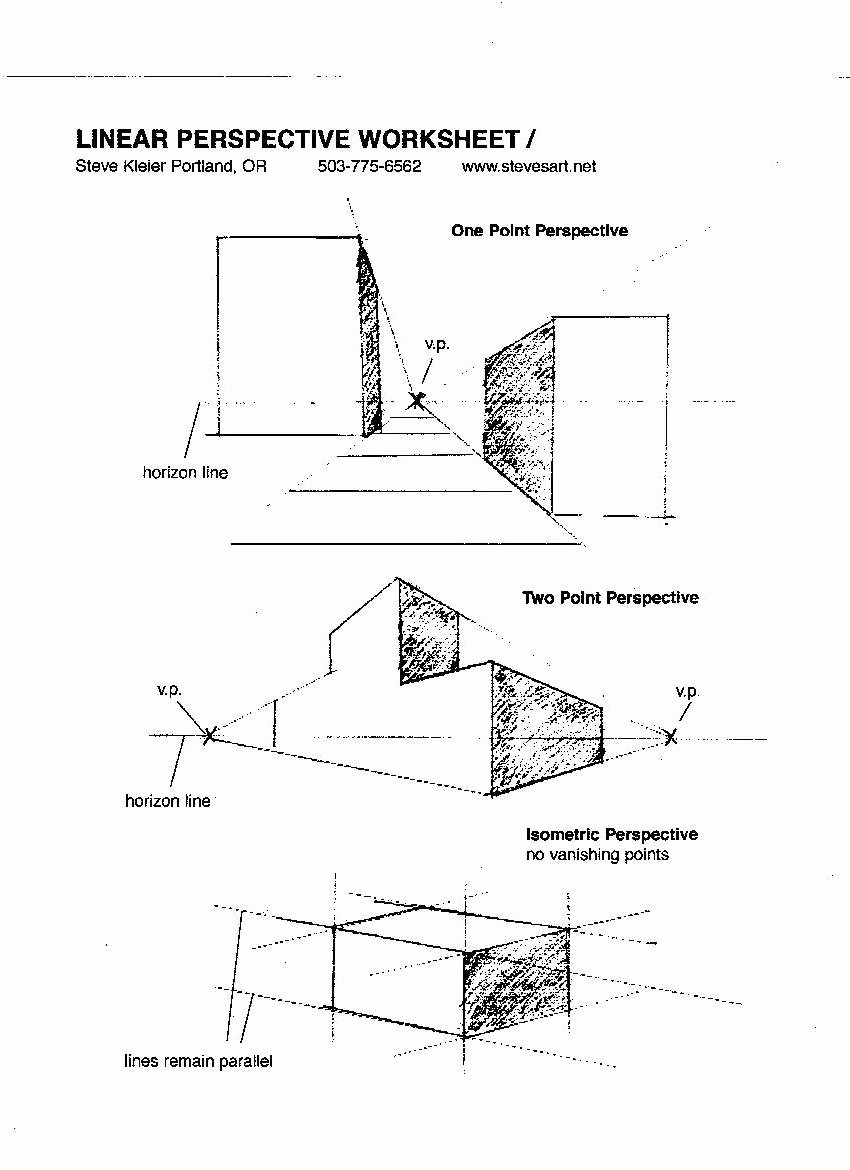 One Point Perspective Worksheet Elegant topic 2 – the Technique Art and Craft Of Cinematography