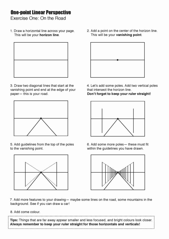 One Point Perspective Worksheet Inspirational 17 Best Images About Perspective On Pinterest