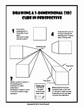 One Point Perspective Worksheet Inspirational Drawing Cubes In 1 Point Perspective Handout
