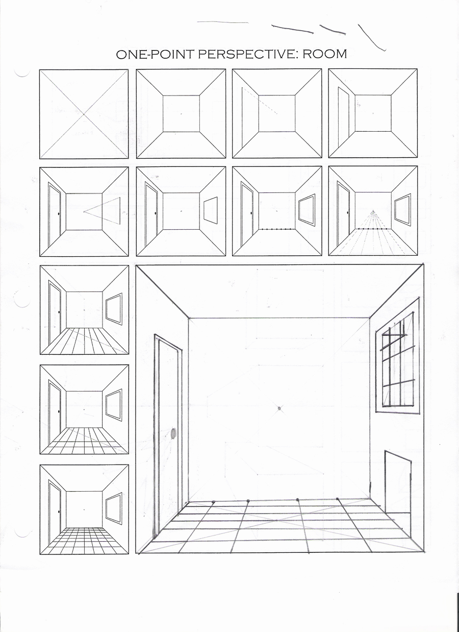 One Point Perspective Worksheet Lovely 1 Point Perspective Practice by Fadflamer On Deviantart