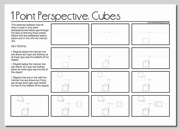 One Point Perspective Worksheet New E Point Perspective Drawing the Ultimate Guide
