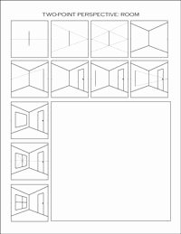 One Point Perspective Worksheet New Two Point Perspective Worksheets Dawn S Brain