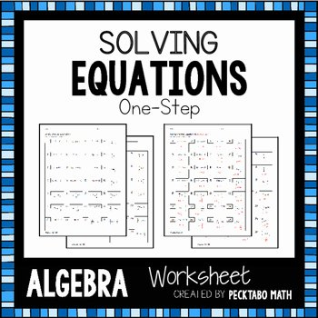 Solving e Step Equations Worksheet
