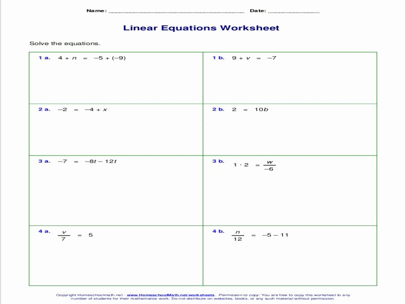One Step Equations Worksheet Pdf New solving E Step Equations Worksheet Pdf Free Printable
