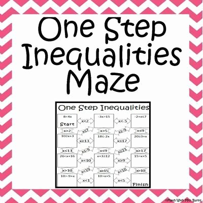 One Step Inequalities Worksheet Awesome E Step Inequalities Maze Advanced From Amazing