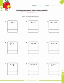 One Step Inequalities Worksheet Awesome Free Multi Step Inequalities Worksheets Pdf for Kids