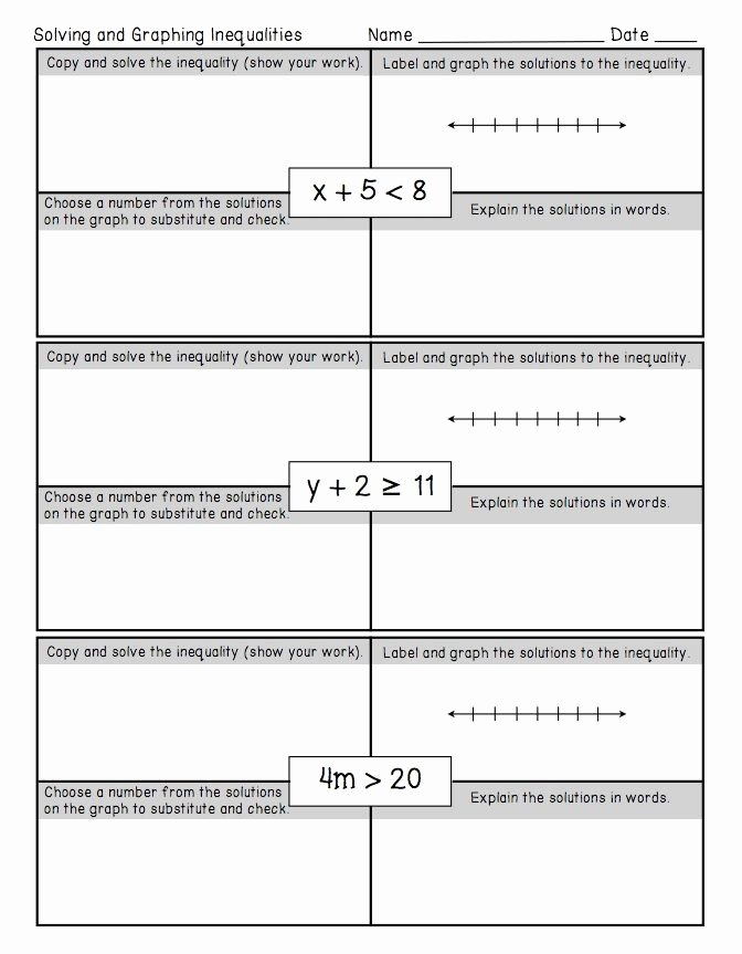 One Step Inequalities Worksheet New Freebie E Step Inequalities Worksheet This Freebie is
