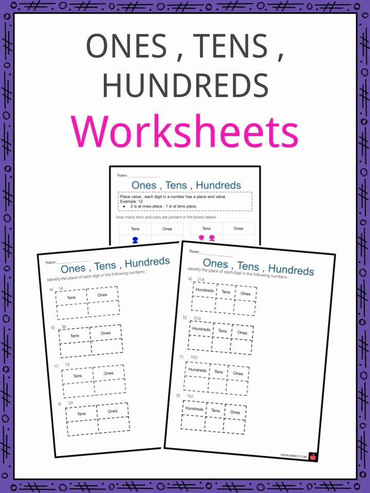 Ones Tens Hundreds Worksheet New Es Tens Hundreds Worksheets