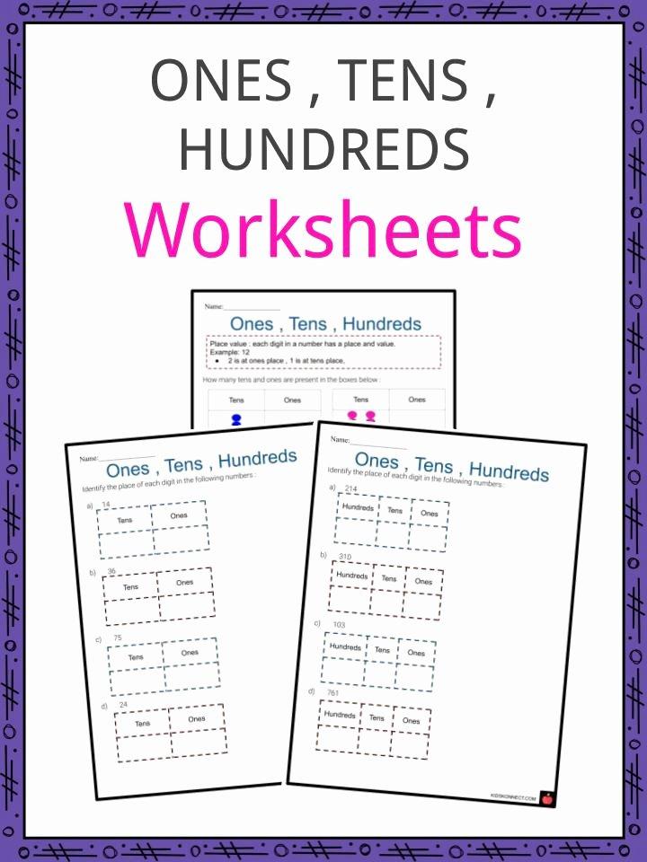 Ones Tens Hundreds Worksheet New Es Tens Hundreds Worksheets