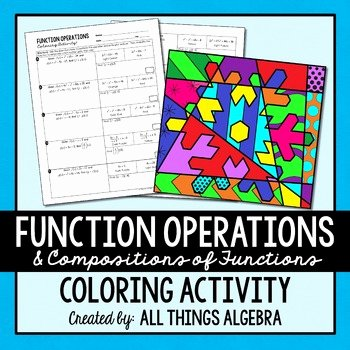 Operations On Functions Worksheet Elegant Function Operations and Positions Coloring Activity by