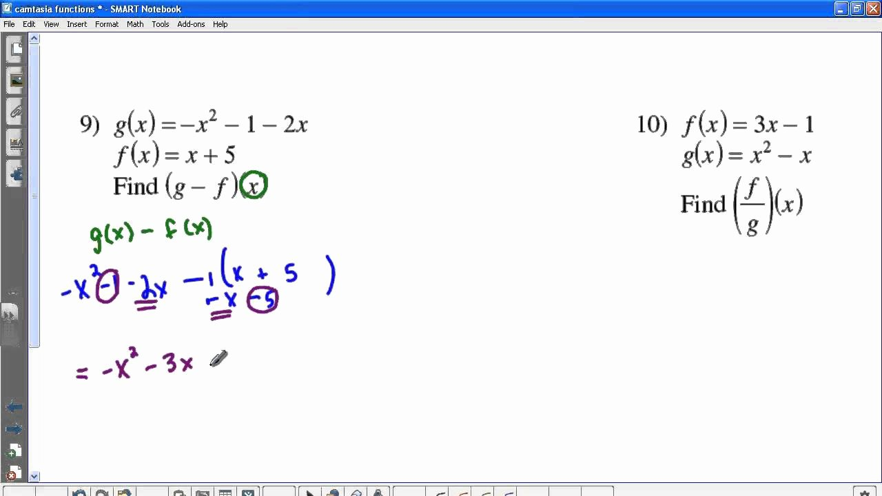 Operations On Functions Worksheet Lovely Kuta Function Operations