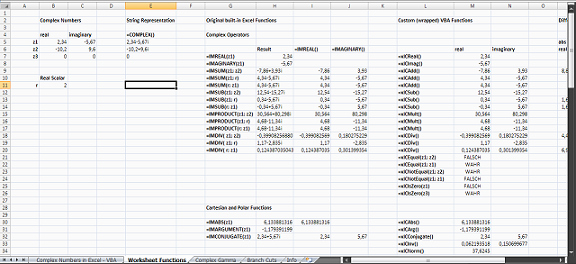 Operations with Complex Numbers Worksheet Beautiful Plex Numbers In Vba
