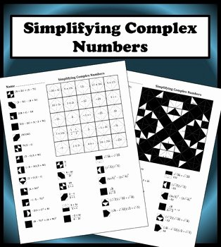 Operations with Complex Numbers Worksheet Inspirational Simplifying Plex Numbers Color Worksheet by Aric Thomas