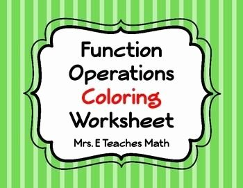 Operations with Complex Numbers Worksheet Lovely Function Operations Coloring Worksheet