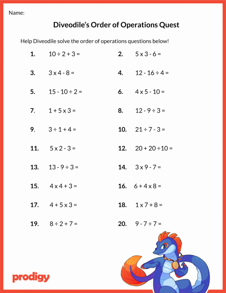 Operations with Exponents Worksheet Elegant order Of Operations Worksheet 19 Resources for Your Class