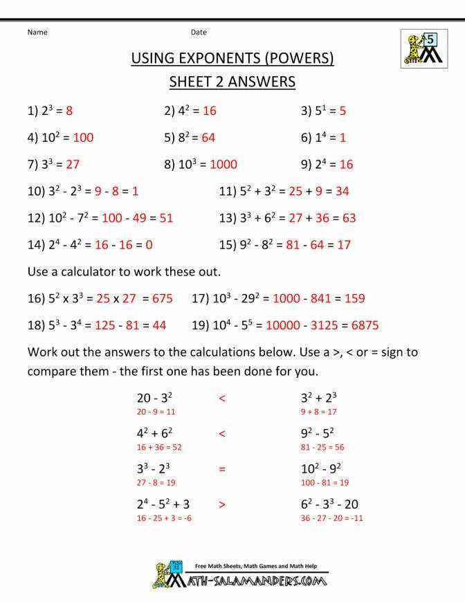 Operations with Exponents Worksheet Elegant Pemdas Worksheet