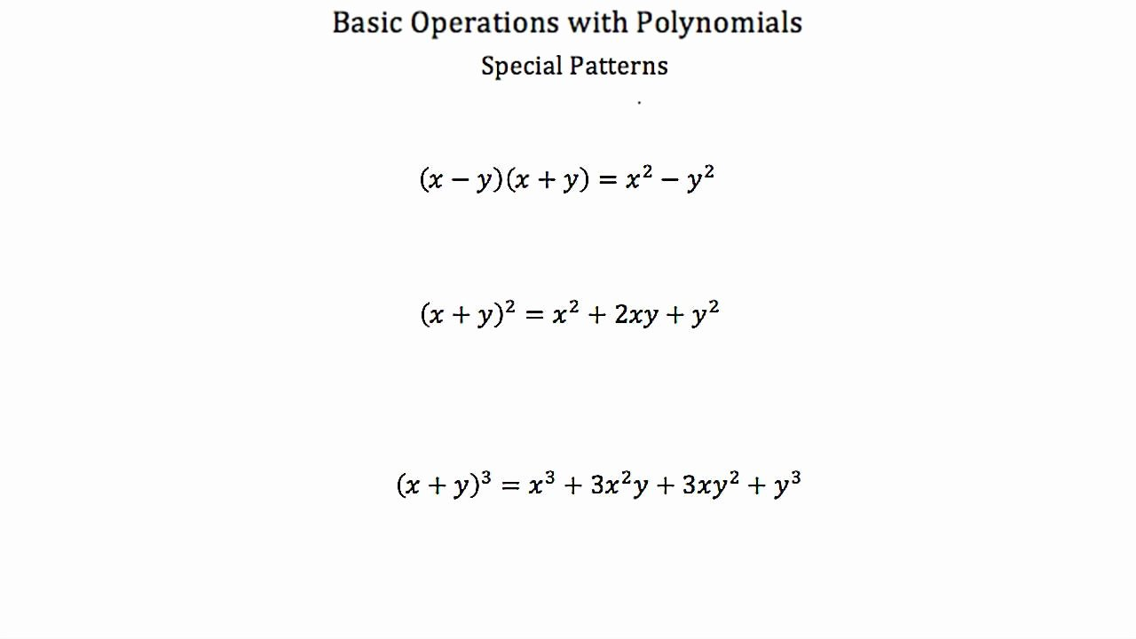 Operations with Polynomials Worksheet Elegant Basic Operations with Polynomials Pt 2