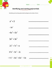 Operations with Polynomials Worksheet Lovely Factoring Polynomials Worksheets with Answers and Operations