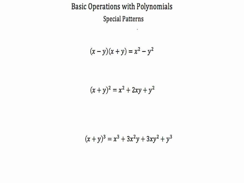 Operations with Polynomials Worksheet Luxury Operations with Polynomials Worksheet