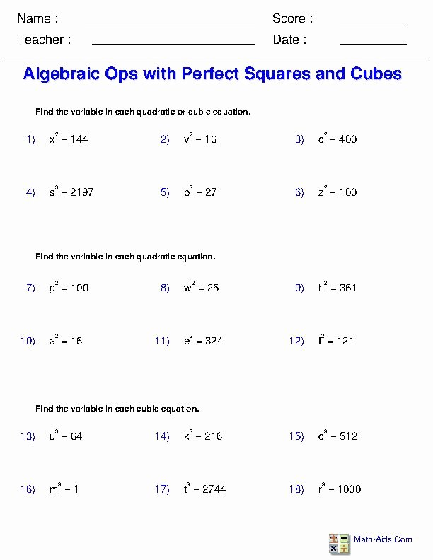 Operations with Radicals Worksheet Awesome solving Radical Equations Worksheets
