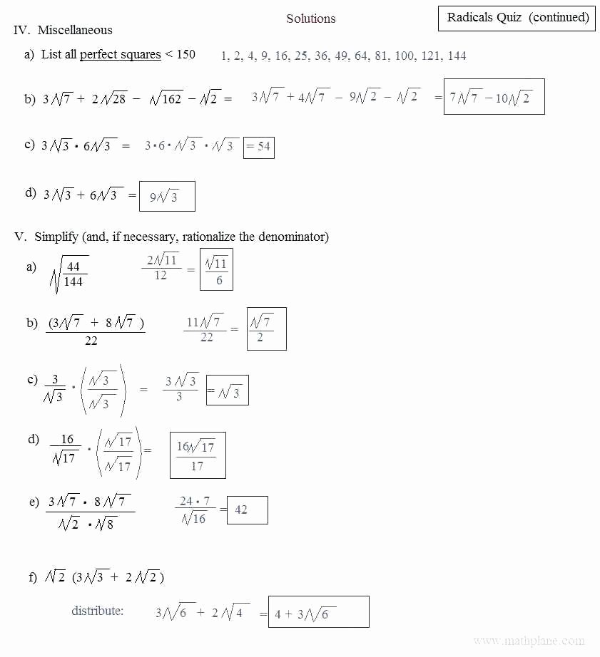 Operations with Radicals Worksheet Beautiful Geometry Worksheet Simplifying Radicals Geo Kids