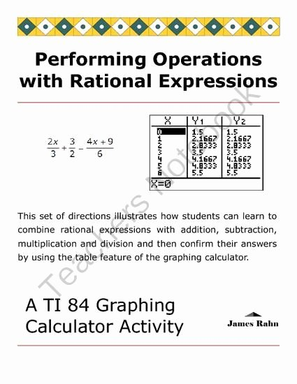 Operations with Rational Numbers Worksheet Best Of 17 Best Images About A2 Rational and Radical Functions On