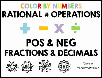 Operations with Rational Numbers Worksheet Elegant Rational Number Operations Worksheets Color by Numbers