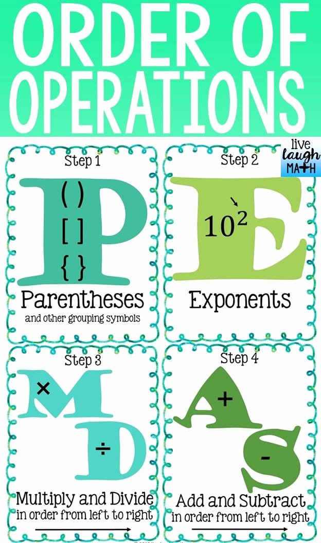 Operations with Rational Numbers Worksheet Fresh order Operations Rational Numbers Worksheet Pdf
