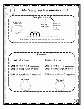 Operations with Rational Numbers Worksheet Luxury Guided Notes Operations with Rational Number and Integers