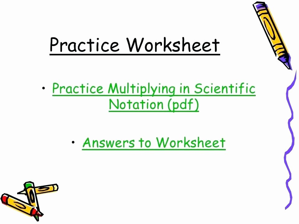 Operations with Scientific Notation Worksheet Beautiful Operations with Scientific Notation Math Handbook