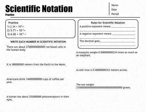 Operations with Scientific Notation Worksheet Beautiful Operations with Scientific Notation Worksheet