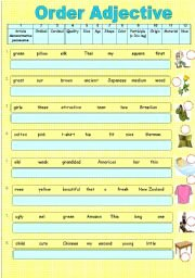 Order Of Adjectives Worksheet Beautiful English Worksheets Adjective order Worksheets Page 2