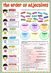 Order Of Adjectives Worksheet Elegant the order Of Adjectives Esl Worksheet by Esther1976