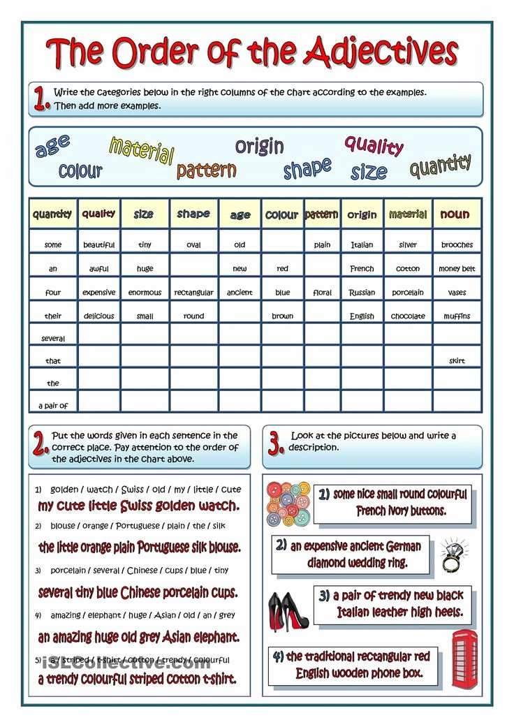 Order Of Adjectives Worksheet Inspirational Best 25 order Of Adjectives Worksheet Ideas On Pinterest