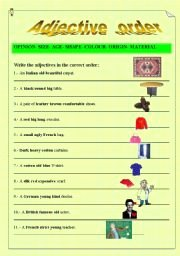 Order Of Adjectives Worksheet Luxury Adjective order Esl Worksheet by Emece