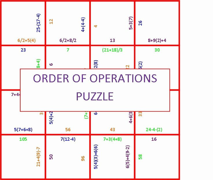 "Order Of Operations Puzzle Worksheet Elegant Search Results for ""worksheets order Operations Puzzle"