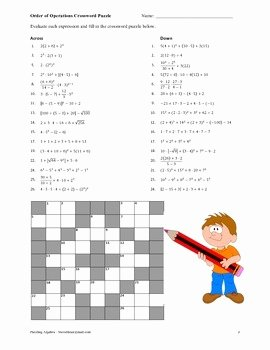Order Of Operations Puzzle Worksheet Fresh Puzzling Algebra 85 Pages Of Puzzles Games and Other